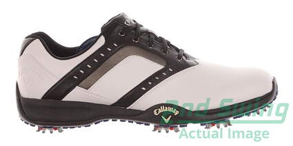 New Mens Golf Shoe Callaway Chev Force Medium 9.5 White/Black MSRP $100 M169
