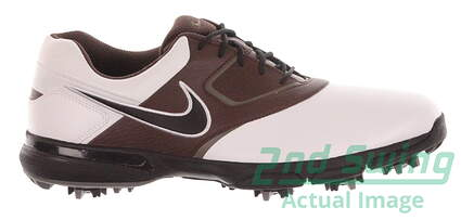 New Mens Golf Shoe Nike Heritage Medium 9 White/Brown MSRP $85 552069