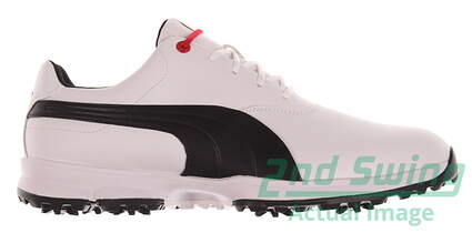 New Mens Golf Shoes Puma Ace Medium 10 White/Black/High Risk Red 188658-01 MSRP $100