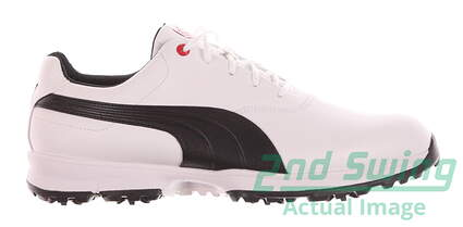 New Mens Golf Shoes Puma Ace Wide 10 White/Black/High Risk Red 188659-01 MSRP $120