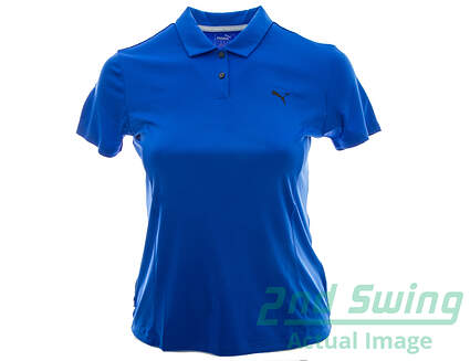 New Womens Puma Pounce Polo X-Large XL Dazzling Blue MSRP $50 570526