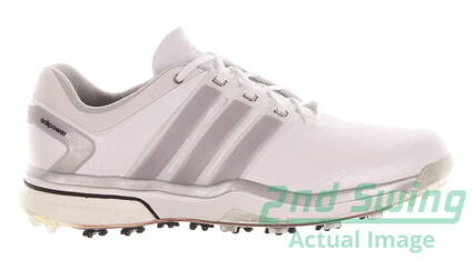 New Mens Golf Shoes Adidas Adipower Boost Medium 10.5 White MSRP $240 Q46752