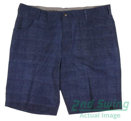 New Mens Adidas Ultimate Chino Golf Shorts Size 38 Blue MSRP $70 AE4318