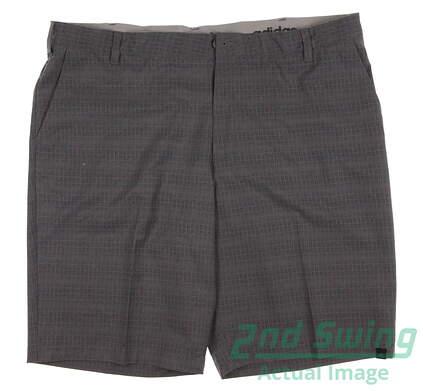 New Mens Adidas Ultimate Dot Plaid Golf Shorts Size 40 Gray MSRP $70 AE4208