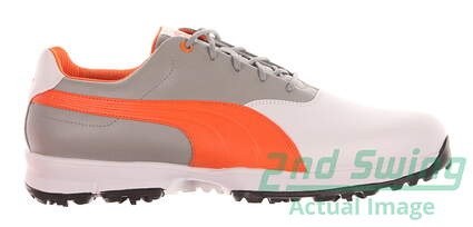 New Mens Golf Shoe Puma Ace Wide 12 White/Orange MSRP $100