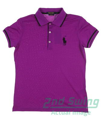New Womens Ralph Lauren Golf Polo Medium M Purple MSRP $95