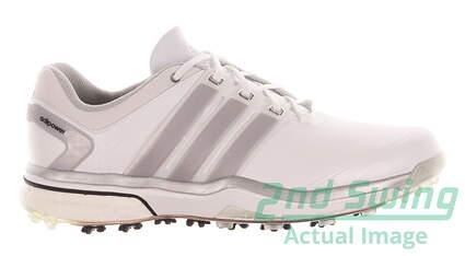 New Womens Golf Shoes Adidas Adipower Boost Medium 7.5 White MSRP $160 Q46752
