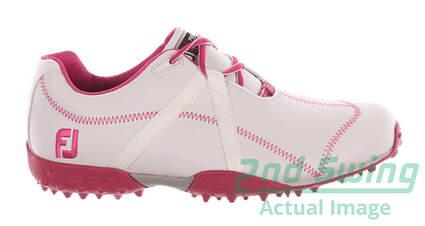 New Womens Golf Shoe Footjoy M Project Medium 9 White/Pink MSRP $120