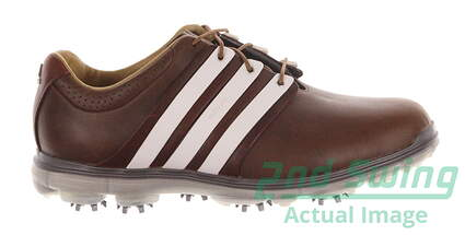 New Mens Golf Shoe Adidas Pure 360 Limited Medium 10 Brown MSRP $250 Q46892
