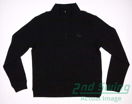New W/ Logo Mens Dunning Golf 1/4 Zip Sweater Medium M Gray MSRP $100