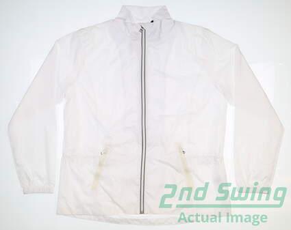 New Womens Ralph Lauren Wind Jacket X-Large XL White MSRP $165 281594918001