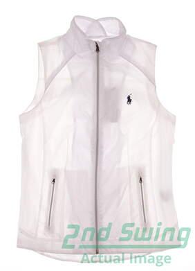New Womens Ralph Lauren Golf Wind Vest X-Small XS White MSRP $125 281612821002