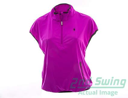 New Womens Ralph Lauren Golf Wind Vest Large L Purple MSRP $198