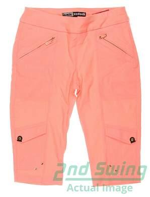 New Womens Jamie Sadock Golf Skinnylicious Knee Capris Size 2 Orange MSRP $110