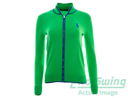 New Womens Ralph Lauren Golf Full Zip Cardigan X-Small XS Green MSRP $145
