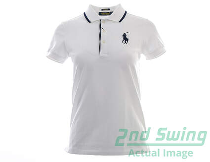 New Womens Ralph Lauren Golf Polo X-Small XS White MSRP $98