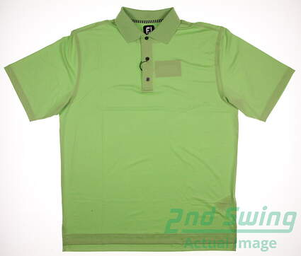 New Mens Footjoy ProDry Lisle Solid Polo Large L Green MSRP $65 32478