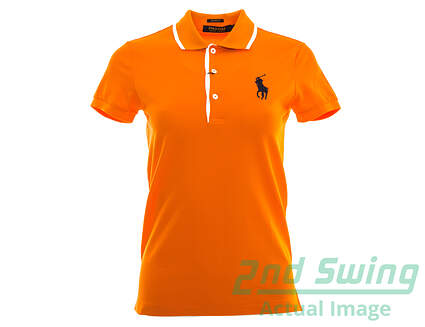 New Womens Ralph Lauren Tailored Golf-Fit Polo X-Small XS Orange MSRP $98