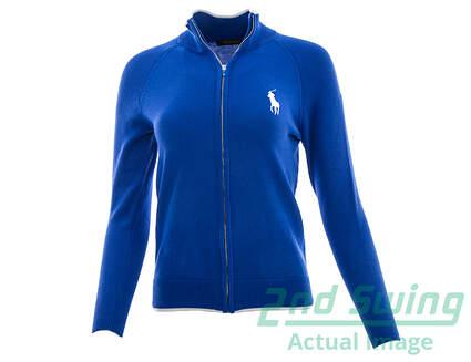 New Womens Ralph Lauren Golf Full Zip Cardigan X-Small XS Blue MSRP $165