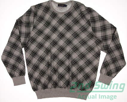 New Mens Ralph Lauren Polo Golf Plaid Sweater X-Large XL Gray MSRP $175 781585511001