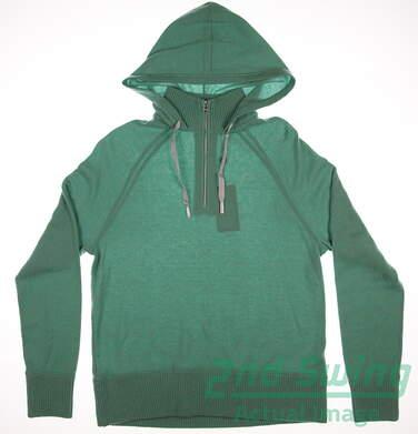 New Womens Ralph Lauren Polo Golf Hooded 1/4 Zip Sweater Large L Green MSRP $425 281589057002