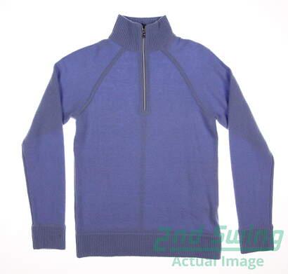 New Womens Ralph Lauren Polo Golf 1/4 Zip Sweater Small S Blue MSRP $425 281562456002
