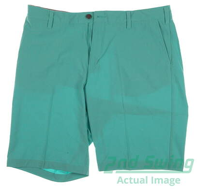 New Mens Adidas Golf Flat Front Ultimate Shorts Size 36 Green MSRP $65 AE9912 88