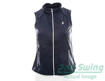 New Womens Ralph Lauren Golf Wind Vest X-Small XS Navy Blue MSRP $125