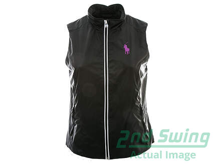New Womens Ralph Lauren Golf Wind Vest X-Large XL Black MSRP $125