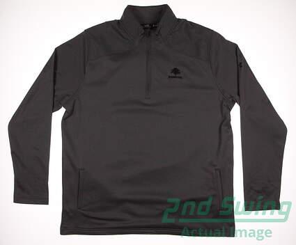 New W/ Logo Mens Under Armour Golf Unite Fleece 1/4 Zip Pullover X-Large XL Gray MSRP $65 UM9438