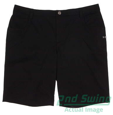 New Mens Under Armour Golf Shorts Size 38 Black MSRP $80
