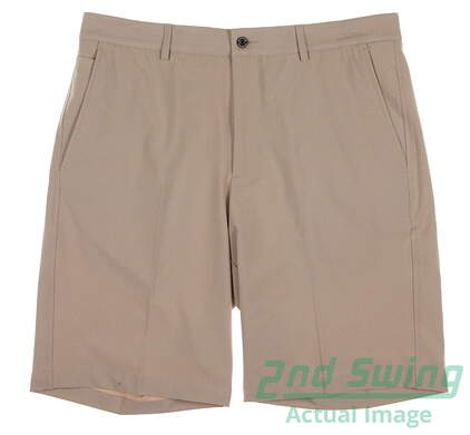 New Mens Dunning Stretch Performance Shorts Size 33 Khaki MSRP $79