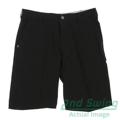 New Mens Adidas Golf Flat Front Ultimate Shorts Size 32 Black MSRP $65 AE4196