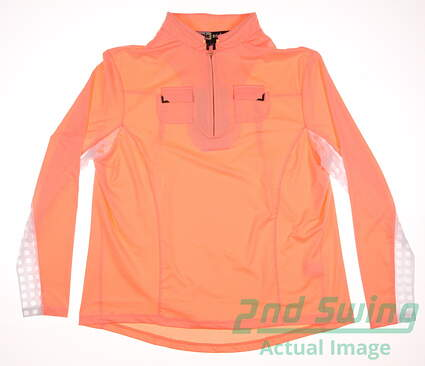 New Womens Jamie Sadock Golf 1/4 Zip Pullover Large L Contessa MSRP $98