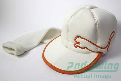 Cobra Rickie Fowler Flat Bill White / Orange stitch Puma Hat 460cc Driver Head Cover Headcover Golf
