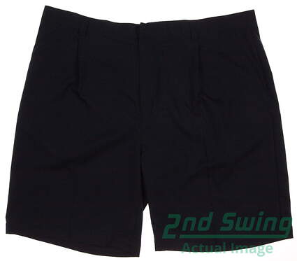 New Mens Adidas Pleated Tech Shorts Size 42 Navy Blue MSRP $60 577567