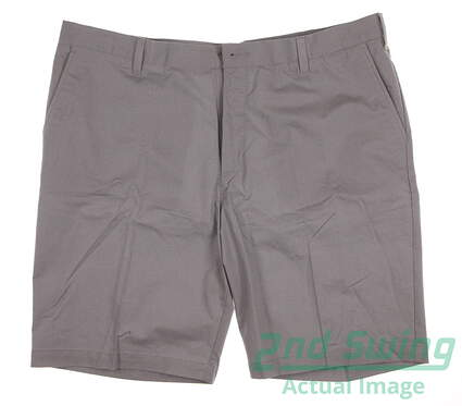 New Mens Adidas Golf Stretch Horizontal Texture Stripe Shorts Size 40 Gray MSRP $75 B19679