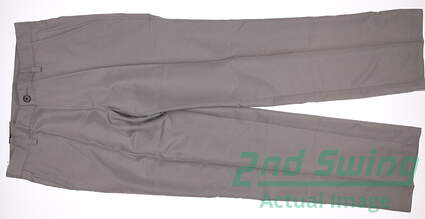 New Mens Adidas Golf Flat Front Tech Pants 38x34 Khaki MSRP $65 X24881