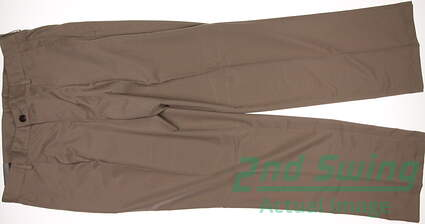 New Mens Adidas Golf Pleated Tech Pants 34x32 Khaki MSRP $65 X24897