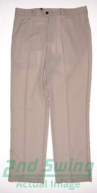 New Mens Adidas Golf Climalite Flap Pocket Pants 32x32 Ecru MSRP $70 X17290