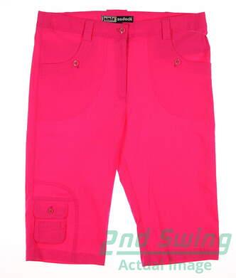 New Womens Jamie Sadock Golf Knee Capris Size 8 Enchantress MSRP $110