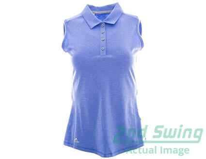 New Womens Adidas Golf Essentials Heather Sleeveless Polo X-Small XS Purple MSRP $50