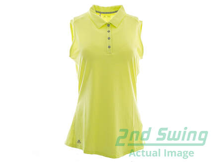 New Womens Adidas Golf Climalite Heather Sleeveless Polo Small S Green MSRP $50 AE5217