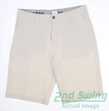 New Mens Adidas Golf Ultimate Shorts Size 32 Ecru MSRP $80