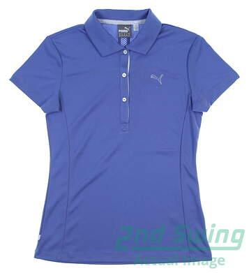 New Womens Puma Golf Tech Polo X-Large XL Blue MSRP $50 568336 19