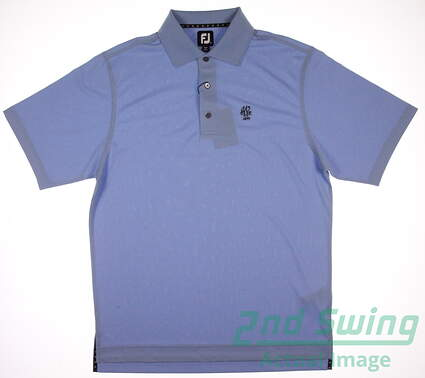 New W/ Logo Mens Footjoy Golf ProDry Performance Pique Solid Polo Large L Blue MSRP $54 32873
