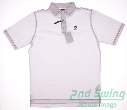 New W/ Logo Mens Footjoy Golf ProDry Performance Stretch Pique Polo Large L White MSRP $65 20475