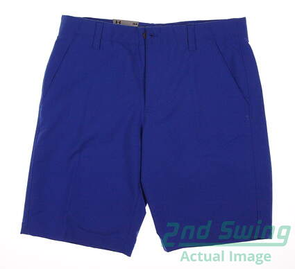 New Mens Under Armour Match Play Golf Shorts Size 34 Ultra Blue MSRP $65