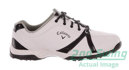 New Womens Golf Shoe Callaway Cirrus Medium 11 White/Black MSRP $60 W479