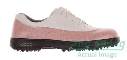 New Womens Golf Shoe Ecco 42 (11/11.5) White/Pink MSRP $120